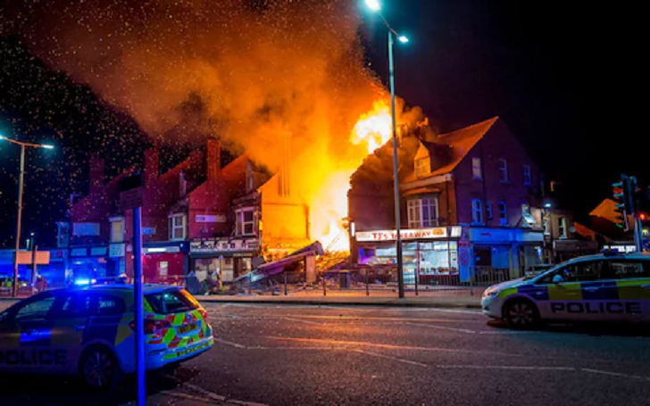 Explosion and Fire in UK's Leicester: 4 Critically Injured, Luckily No One Died