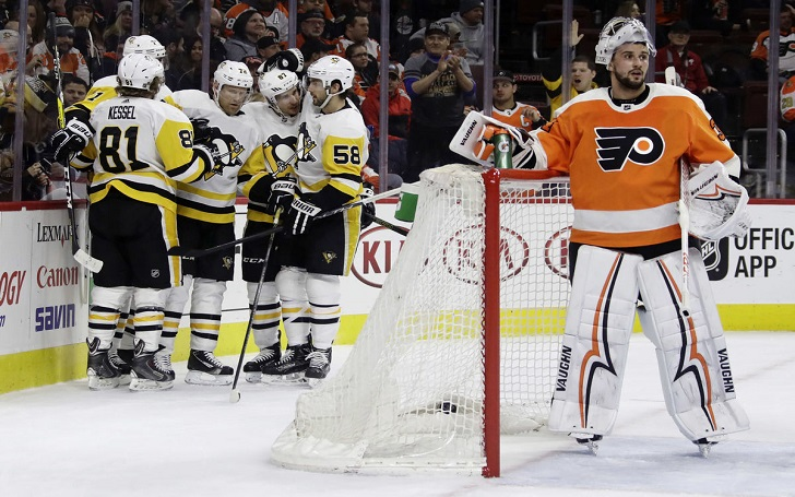 Sidney Crosby and Conor Sheary Lead Pittsburgh Penguins to 5-2 Victory Over Philadelphia Flyers