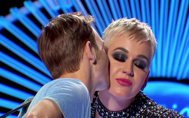 Katy Perry Gives an 'American Idol' Contestant, Benjamin Glaze, 19, His First Kiss
