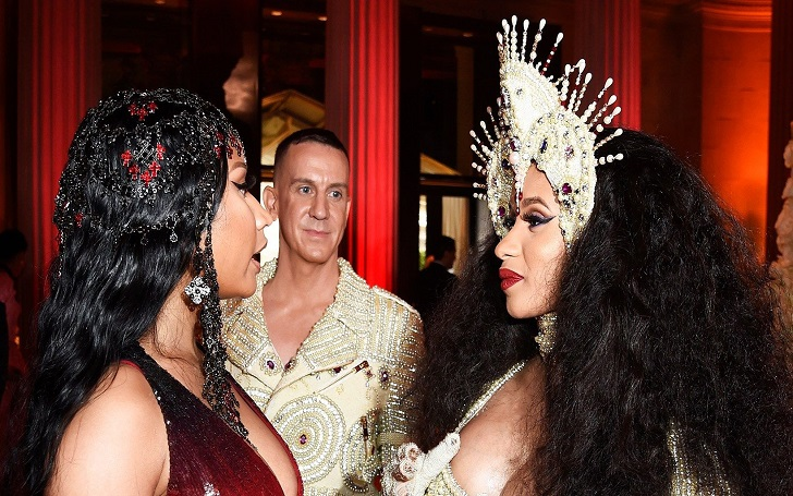 Are Nicki Minaj and Cardi back on talking terms? Spotted together at the Met Gala 2018