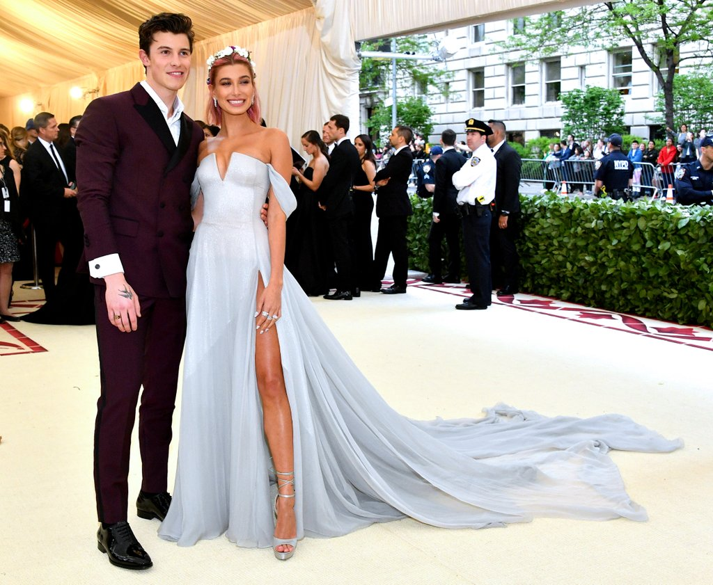 Shawn Mendes treasures Hailey Baldwin's Attire at the Met Gala 2018