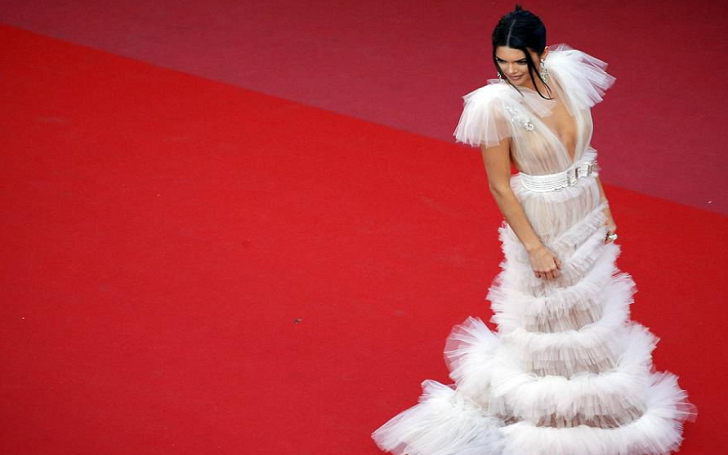 Kendall Jenner's Braless Appearance in a See-Through at Cannes Film Festival: Shows Nipples