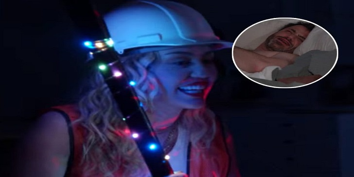 Miley Cyrus Pranks Jimmy Kimmel in His Bedroom and Leaves a Mark