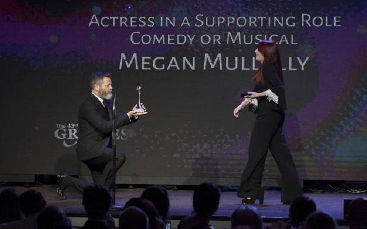 Megan Mullally' During Her Speech at the 43rd Annual Gracie Awards,