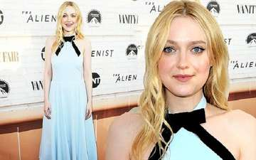 Dakota Fanning Looks Stunning in Baby Blue Dress at The Alienist Emmy FYC