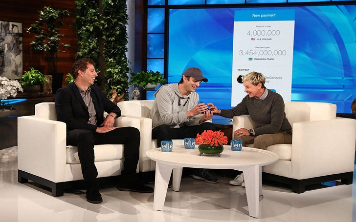 Ashton Kutcher Surprises Ellen DeGeneres Donating $4 Million XRP (Ripple) to Wildlife Fund