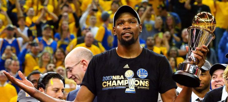 Kevin Durant Becomes NBA Finals MVP; Says He Feels Like a Warrior