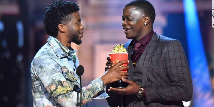 Black Panther Star Chadwick Boseman Awarded MTV Best Hero Award to James Shaw Jr.