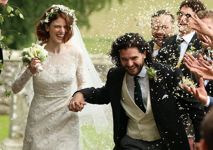'Game of Thrones' Stars Kit Harington and Rose Leslie Get ...