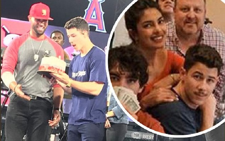 Nick Jonas Celebrate His 26th Birthday With Fiancee Priyanka Chopra at Los Angeles Angels Game