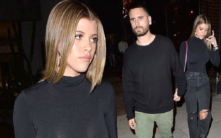 Scott Disick and Girlfriend Sofia Richie Pack on PDA During Date Night