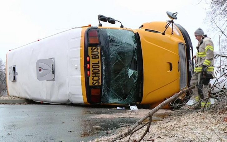 School Bus Overturns in Kansas City with 3 Students Inside