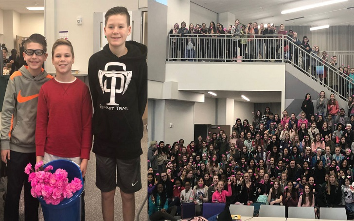 Three Kansas Boys Buy Flowers for Every Girl at School on Valentine's Day