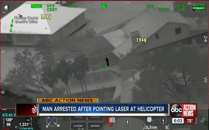 A Florida Man Arrested For Pointing Red Laser at Sheriff's Helicopter