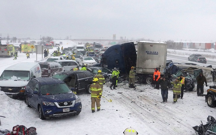 131-Car Wisconsin Pileup Video, 1 Person Killed and Dozens Injured in Accident