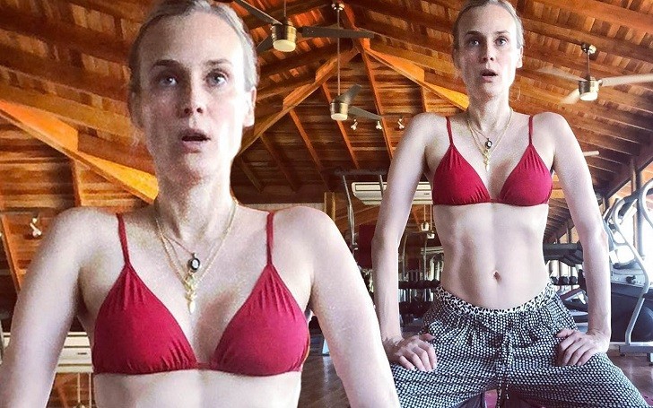 Diane Kruger Shows Off Her Post-Baby Abs 4 Months After Giving Birth