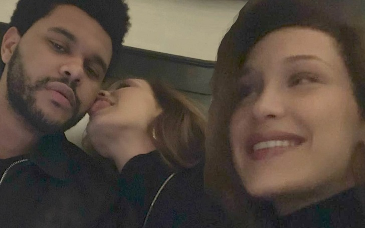 Bella Hadid Snuggles Up With Boyfriend The Weeknd: Licks His Face