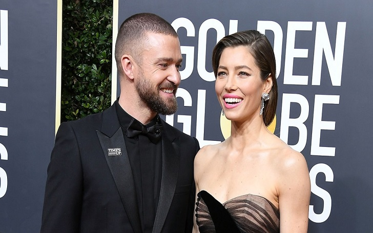 Jessica Biel Grabs Husband Justin Timberlake's Butt at His Concert Backstage