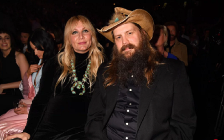 Chris Stapleton's Pregnant Wife Morgane Shows Off Massive Baby Bump at ACM Awards 2019
