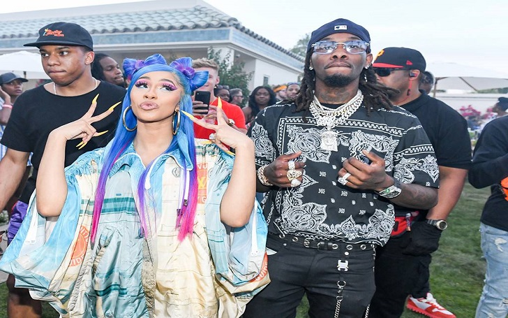 Cardi B and Offset Pack on PDA While Performing at Coachella Party