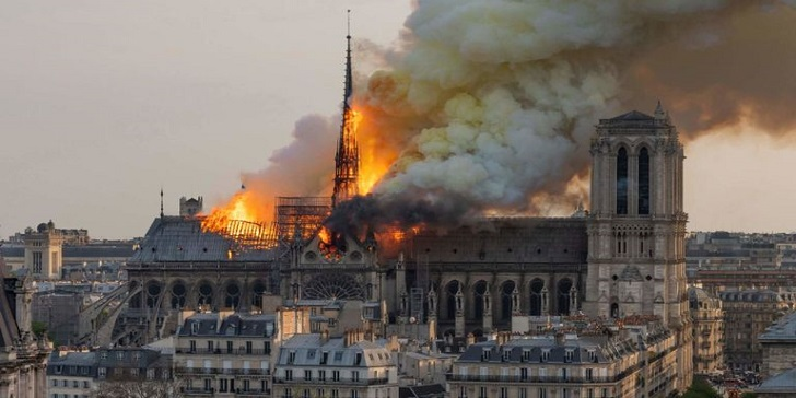 856 years old Notre Dame Cathedral In France catches Fire