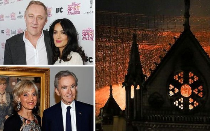 Francois-Henri Pinault and Bernard Arnault Donate to Help Rebuild Notre Dame Cathedral After Fire