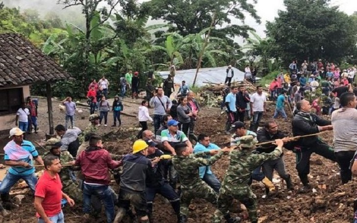 Colombia Landslide: At Least 17 People Killed and Five Injured