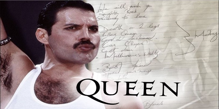 QUEEN frontman Late Freddie Mercury's Handwritten Set List on Sale