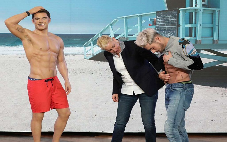 Zac Efron Thinks His Wax Statue Has Better Six-Pack