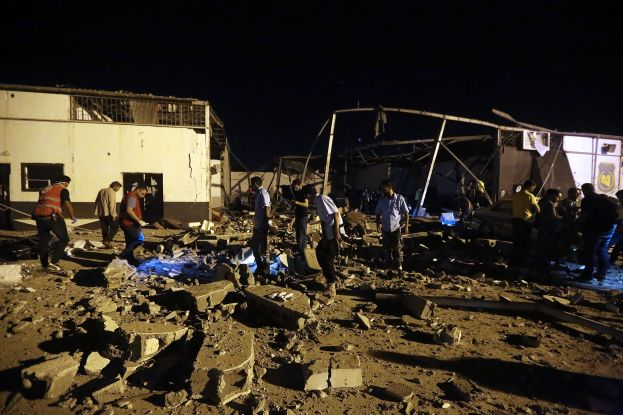 Airstrike in Tripoli, Libya Migrant Center Kills 40 People, Leaving 80 Injured