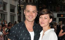 Emma Willis and Matt celebrating after being parents to a baby child named Trixie Grace