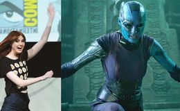 Karen Gillan can't wait for the Guardian of the Galaxy 2's release as she wraps up her shoot