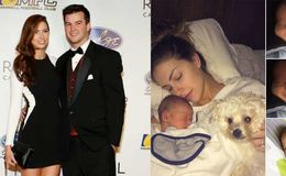 Katherine Webb and AJ McCarron share the first picture of their baby boy Tripp on Instagram