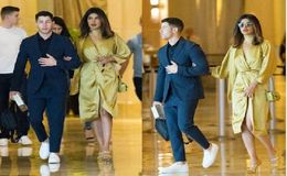 Nick Jonas Brings His Girlfriend Priyanka Chopra at Cousin Rachel Tamburelli's Wedding