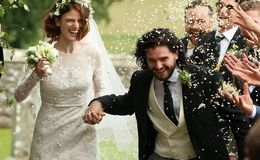 'Game of Thrones' Stars Kit Harington and Rose Leslie Get Married in Star-Studded Wedding Ceremony in Scotland: Photos