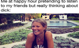 Gwyneth Paltrow Hilariously Reacts to A Meme of Her 'thinking about dick'
