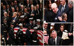 Prince Charles, Barack Obama, Donald Trump and More Attend George H.W. Bush's Funeral: Photos