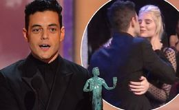 Rami Malek Kisses Girlfriend Lucy Boynton at SAG Awards 2019 After His Win