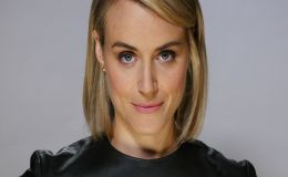 Taylor Schilling Appears at The Public premiere in NYC, Hot in Stylish Black Mini Dress