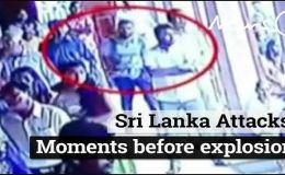 Surveillance Camera Footage shows Sri Lankan Suicide Bomber entering the Church