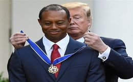Golfer Tiger Woods Honored by President Donald Trump with the Presidential Medal of Freedom
