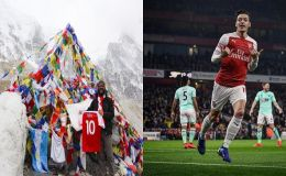 Arsenal Footballer Mesut Ozil Thanks Nepalese Fans for Taking his Signed Jersey to Mount Everest Base Camp